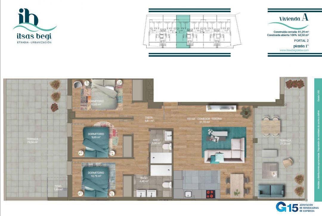Planta Tipo A 3 Habitaciones Inmobiliaria Elizalde