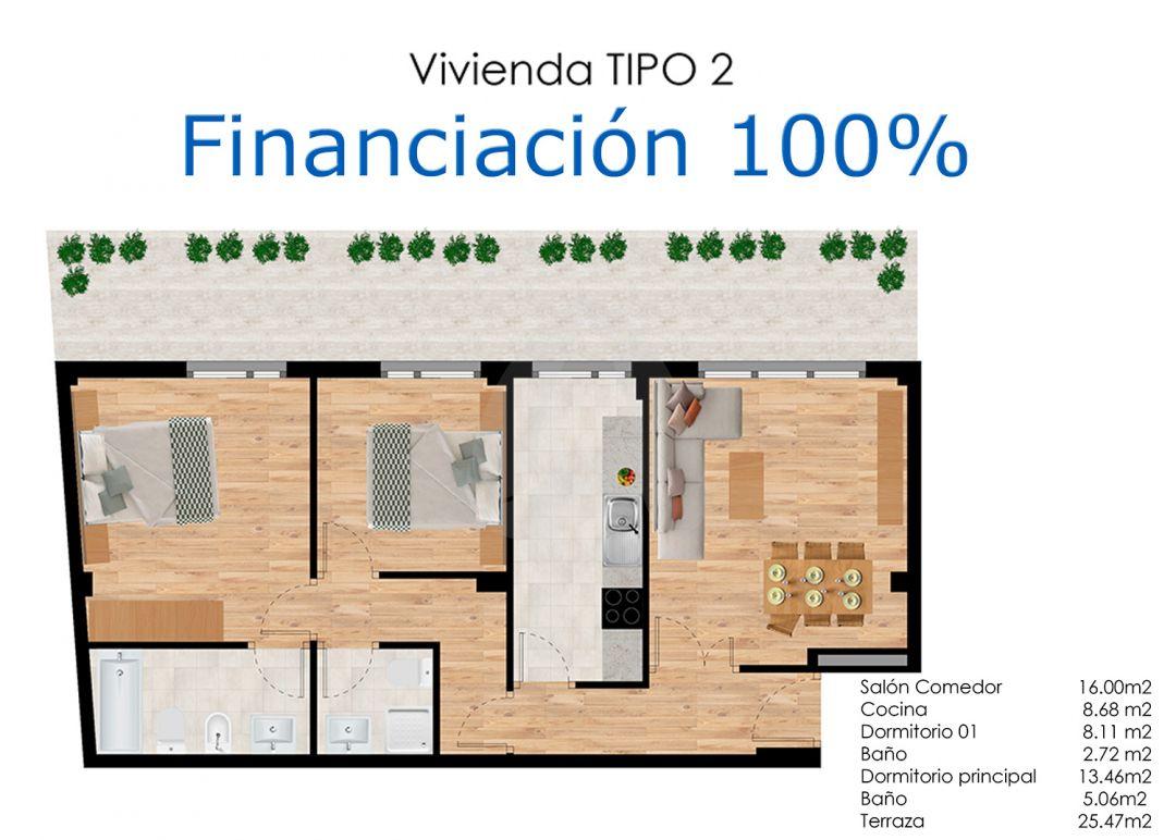 Apartamentos en construcción con jardín en Agoncillo – Financiación 100%